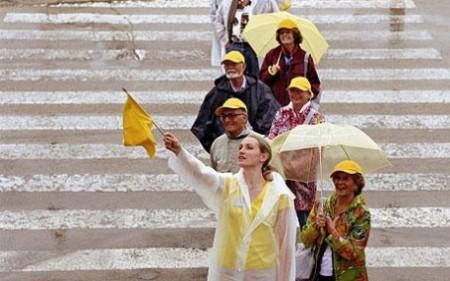 bandierina gialla, seguite lei!