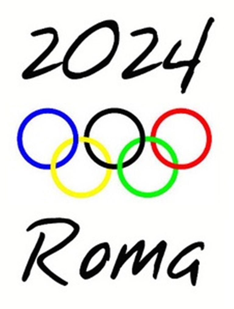 Il logo della candidatura di Roma 2024