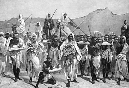nL41 - schiavitu - schiavi neri condotti dai padroni berberi