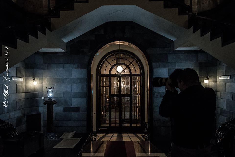 Entrata della Sala Piacentini presso l'Associazione Nazionale Mutilati e Invalidi di Guerra