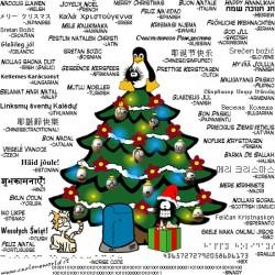 NL23 - 1 - albero di natale - albero auguri in lingua