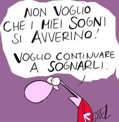 NL24 - i sogni - vignetta non voglio che i miei sogni...