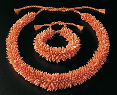 NL25 - corallo - corallo rosa collana