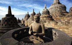 NL27 - spalla - viaggi - indonesia - mappa - borobudur