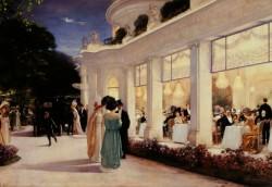 NL28 - sei gradi - Paris 1900 - Hery Gervex-une soirée au pre catelan 1909