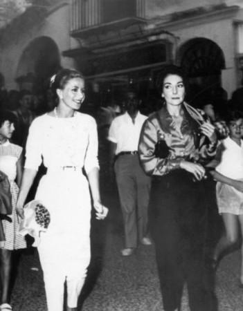 NL32 - capri - Tina Onassis e Maria Callas a Capri