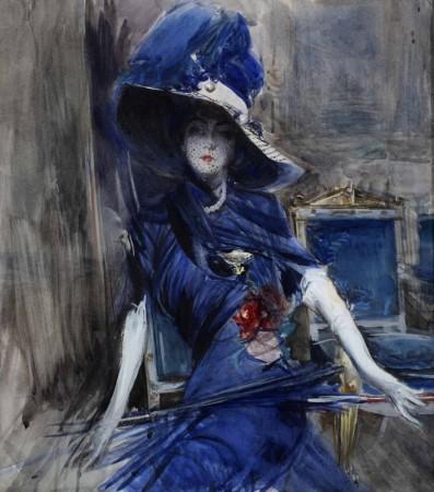 NL35 - Boldini - la divina in blu