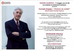 CORRADO AUGIAS _ STORIE DALLA GRANDE GUERRA_ 7 MAGGIO ORE 21.00 - PROMOZIONE SPECIALE