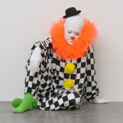 Un clown dormiente al Macro Testaccio