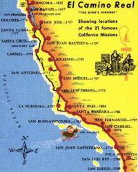 Mappa delle missioni con date di fondazione