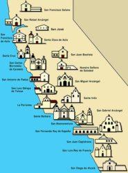 Tutte le missioni fondate lungo il Camino Real