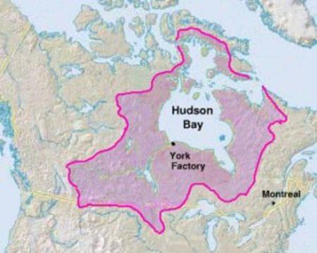 Il territorio gestito dalla Hudson's Bay Company