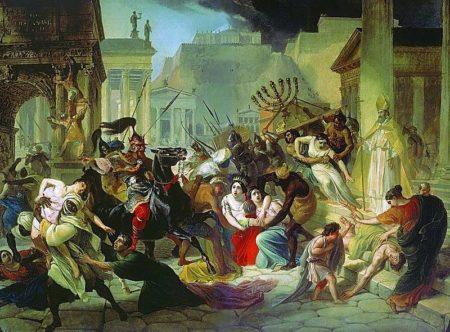 Il sacco di Roma ad opera di Genserico e i suoi Vandali nel 455, dipinto da Karl Briullov