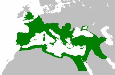 Estensione dell'Impero Romano al suo massimo splendore