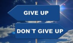 do not give up!