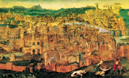 Il sacco di Roma del 1527, dipinto da Pieter Brueghel, il Vecchio