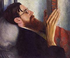 Il ritratto di Strachey eseguito da Dora Carrington