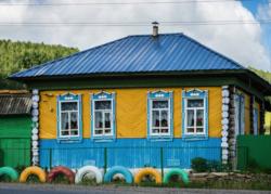 Una coloratissima casa siberia
